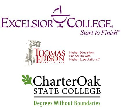 The Big Three Breakdown - Excelsior, Thomas Edison State College, Charter Oak State College